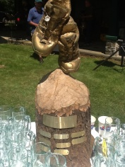 The Trophy, with golden trail shoes.