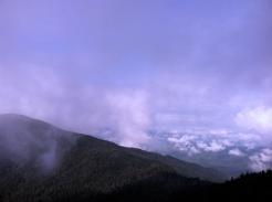 Cloud/fog was still thick.